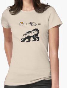 Honey + Badger = Honey Badger Womens Fitted T-Shirt