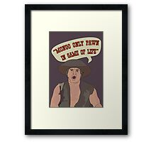 MONGO ONLY PAWN Framed Print