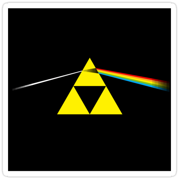 The Dark Side of the Triforce - sticker by TedDastickJr