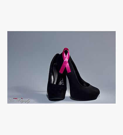 "Breast cancer awareness ""Black heels and Ribbon"" Photographic Print"