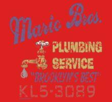 Mario Brothers Plumbing Kids Tee