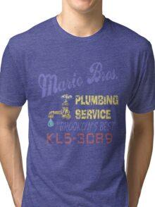 Mario Brothers Plumbing Tri-blend T-Shirt