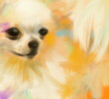 Dog Chihuahua Orange Sticker