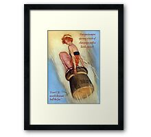 Opening Champagne Framed Print
