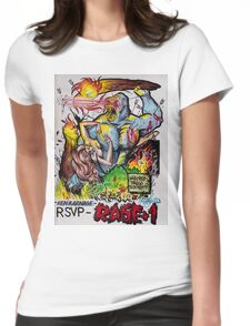 """Ken Karnage's """"Rage+1"""" Womens Fitted T-Shirt"""