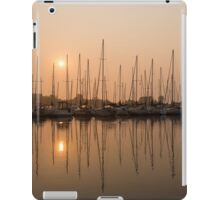 Pale Pastel Sunrise with Yachts iPad Case/Skin