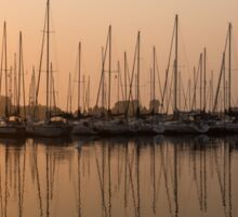 Pale Pastel Sunrise with Yachts Sticker
