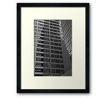 Skyscraper Reflections, Manhattan Framed Print