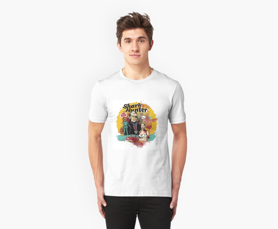 Thomas Jefferson - Shark Hunter! t-shirt by badassdigest