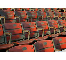 Red Seats Photographic Print