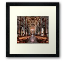 Notre-Dame Basilica in Saigon in HDR Framed Print