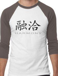 Chinese Symbol for Harmony T-Shirt Men's Baseball ¾ T-Shirt