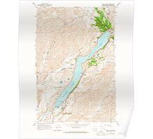 USGS Topo Map Washington State WA Rock Lake 243498 1964 24000 Poster
