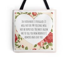 Darcy's proposal Tote Bag