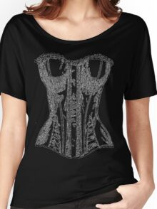 Vintage Corset Illustration Women's Relaxed Fit T-Shirt