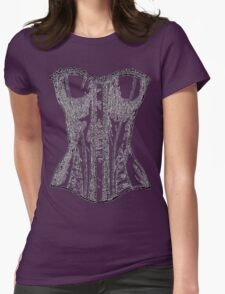 Vintage Corset Illustration Womens Fitted T-Shirt