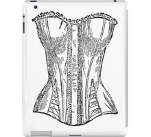 Vintage Corset Illustration iPad Case/Skin
