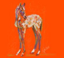 cute t-shirt foal paint Kids Tee