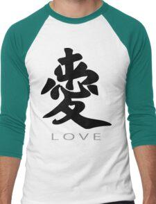 Chinese Symbol for Love T-Shirt Men's Baseball ¾ T-Shirt