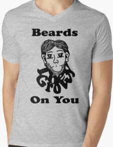Beards, They Grow On You  Mens V-Neck T-Shirt