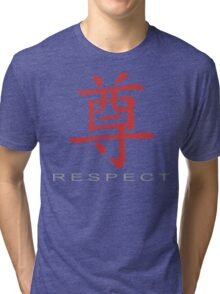Chinese Symbol for Respect T-Shirt Tri-blend T-Shirt