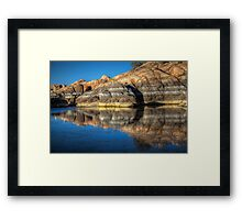 Granite Reflect Framed Print