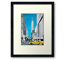 Splash Cities - New York 02 Framed Print