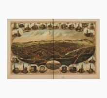 Panoramic Maps York Pa Kids Tee