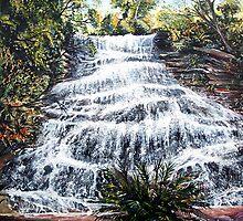 Katoomba Falls, Blue Mountains Australia by Linda Callaghan