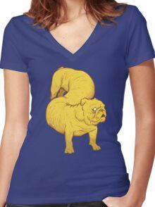 Boys Best Friend Women's Fitted V-Neck T-Shirt