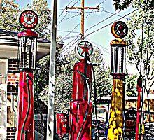 Antique gas pumps by Margot Ardourel