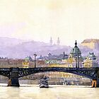 Prague Panorama Cechuv Bridge variant  by Yuriy Shevchuk