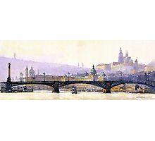 Prague Panorama Cechuv Bridge variant  Photographic Print