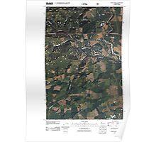 USGS Topo Map Washington State WA Vance Creek 20110510 TM Poster