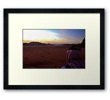 Sunset over Wadi Rum, Jordan Framed Print
