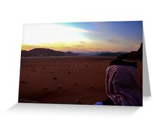 Sunset over Wadi Rum, Jordan Greeting Card