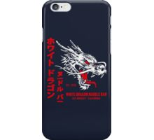 White Dragon Noodle Bar (aged look) iPhone Case/Skin