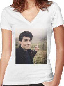 Walks with Dan Howell Women's Fitted V-Neck T-Shirt