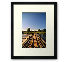 Bolton Abbey Bridge over the Flowing River Wharfe at Night 5613 A IMG Framed Print