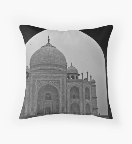 Archway to the Taj Mahal Throw Pillow