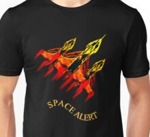 Space Alert a trio of Space Interceptors T-shirt design Unisex T-Shirt