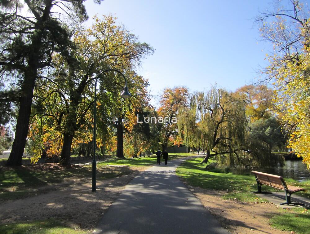 Strolling, Lake Weeroona, Bendigo, Vic. by Lunaria