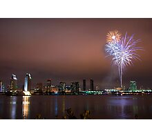 FIREWORKS ON SAN DIEGO BAY Photographic Print