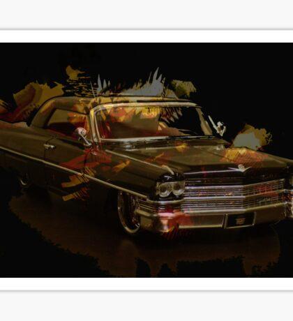 Black Cadillac Sticker