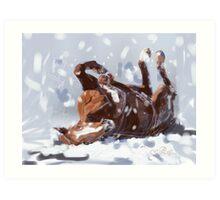 Horse-  snowflake fun Art Print