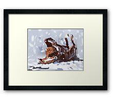 Horse-  snowflake fun Framed Print