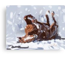 Horse-  snowflake fun Canvas Print