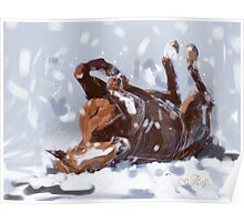 Horse-  snowflake fun Poster