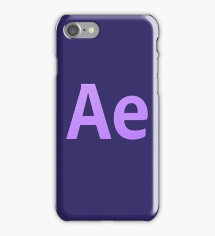 After Effects CS6 Letters iPhone Case/Skin