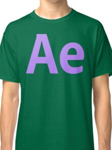 After Effects CS6 Letters Classic T-Shirt